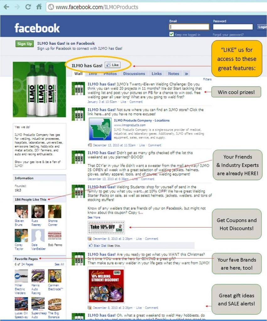 ILMO has Gas! on Facebook